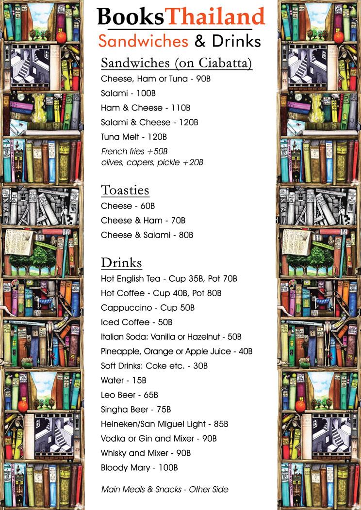 books thailand bookshop menu 2