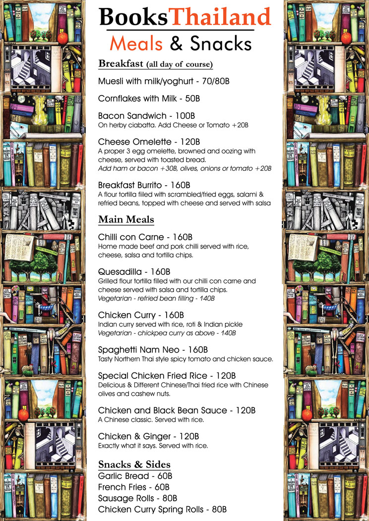 books thailand bookshop menu 1